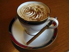 Coffee and cinnamon stick